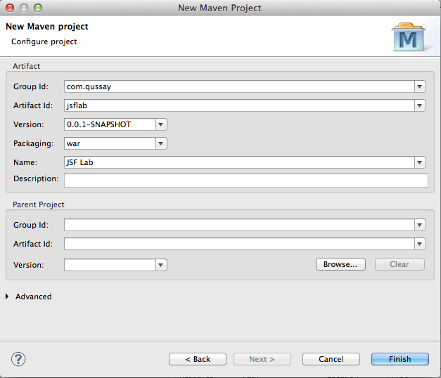 Eclipse New Maven Project 2